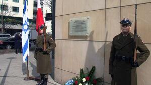 Tablica pamięci dla dowódcy powstania w getcie