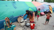 Powódź w Indiach (PAP/EPA/STR)