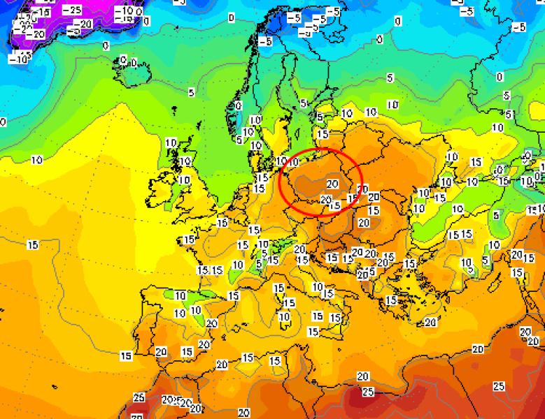 Prognoza temperatury w Europie na niedzielę