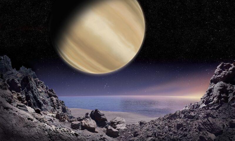 Artystyczna wizualizacja planety Pirx (M. Mizera/PTA/IAU100 (CC BY 4.0))
