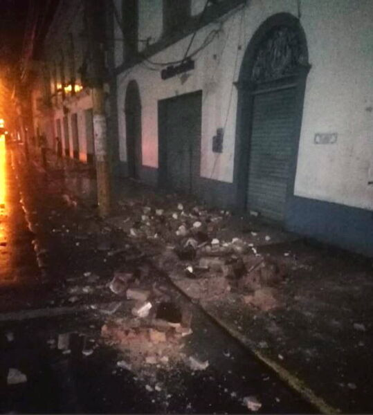 Trzęsienie miało magnitudę 8.0 (PAP/EPA/BomberosPE HANDOUT)