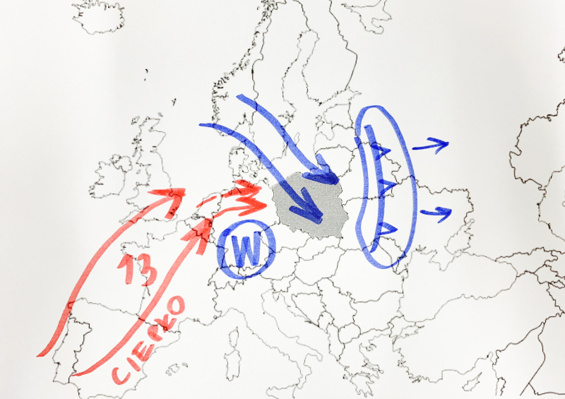 Sytuacja pogodowa nad Europą