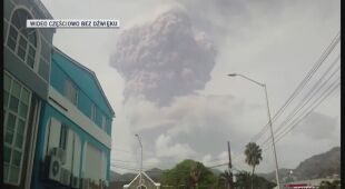 Erupcja wulkanu na wyspie Saint Vincent
