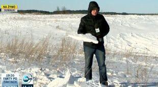 W Suwałkach wciaż pół metra śniegu do wiosny (TVN24)