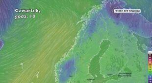 Prognozowana temperatura w Norwegii